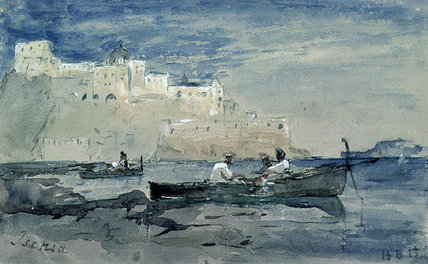 Ischia by Hercules Brabazon Brabazon (1821-1906, France) | Oil Painting | ArtsDot.com