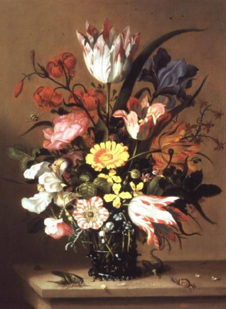 Flowers In A Vase by Jacob Marrel (1614-1681, Germany)