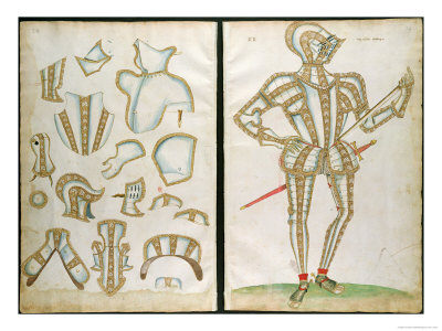 Halder Suit Of Armour For My Lorde Skrope From An Elizabethan Armourer S Album, 1589 by Jacobe Halder (1558-1605, United Kingdom) | Painting Copy | ArtsDot.com