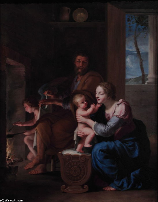The Holy Family by Jacques De Stella (1596-1657) | Art Reproductions Jacques De Stella | ArtsDot.com