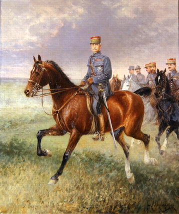 Marshal Ferdinand Foch by Jan Van Chelminski (1851-1925, Poland)