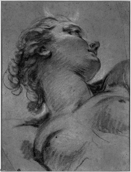 Head And Upper Torso Of Diana by Jean Baptiste Deshays (1729-1765, France)