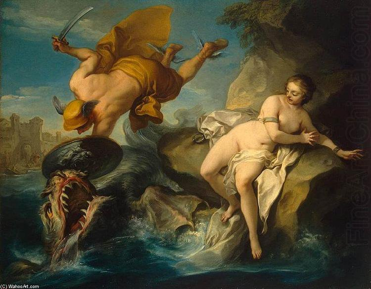 Perseus And Andromeda by Jean Baptiste Lallemand (1716-1803, France)