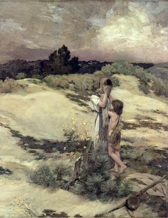 Hagar And Ishmael by Jean Charles Cazin (1841-1901, France) | Museum Art Reproductions | ArtsDot.com