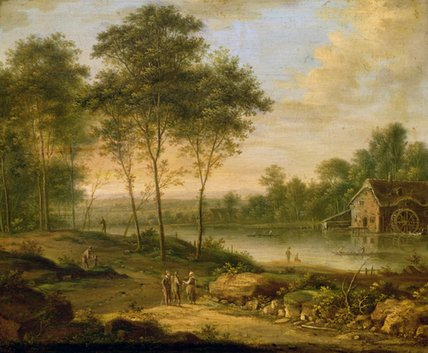 Order Painting Copy : Landscape With A Mill by Johann Christian Vollerdt Or Vollaert (1708-1769) | ArtsDot.com