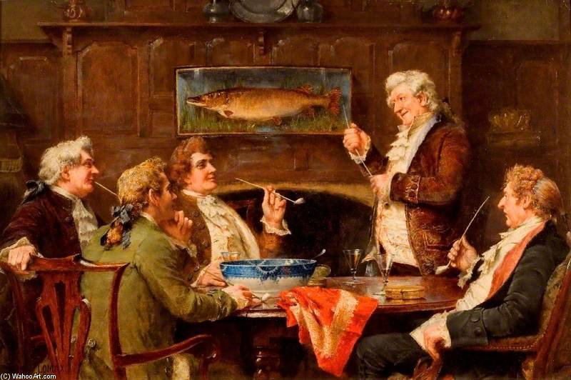 How The Old Squire Caught The Big Jack by John Arthur Lomax (1857-1923, United Kingdom)