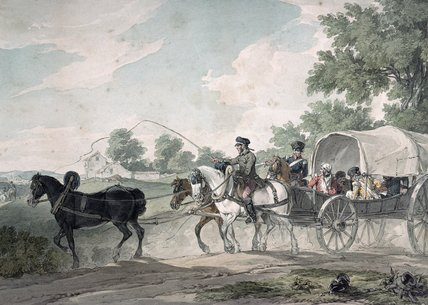 Belgian Wagon Conveying Wounded From The Field by John Augustus Atkinson (1775-1833, United Kingdom) | ArtsDot.com