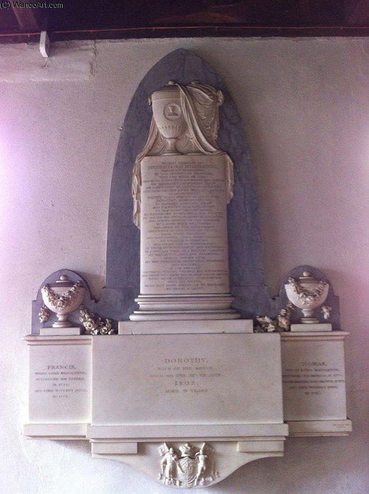 Memorial In St Leonard`s Church by John Bacon (1740-1799, United Kingdom) | Painting Copy | ArtsDot.com