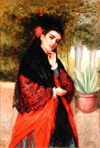 John Bagnold Burgess - A Spanish Beauty