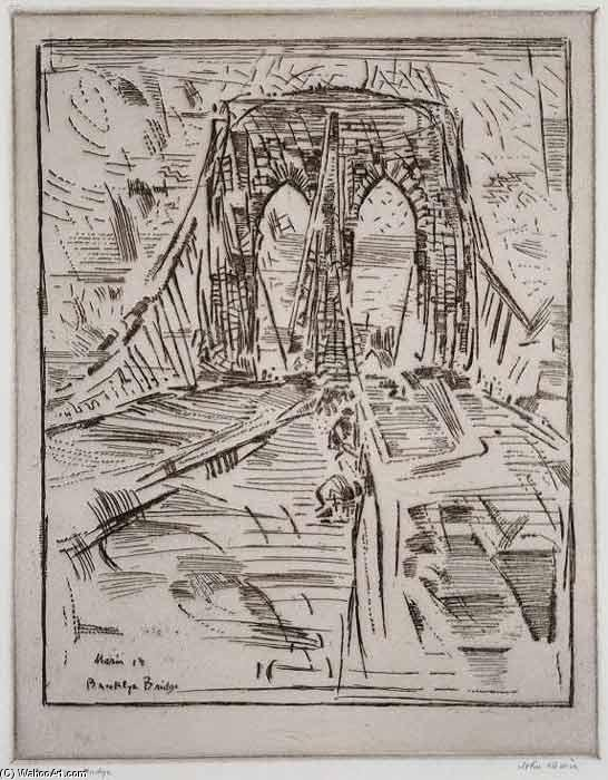 Brooklyn Bridge - by John Marin (1870-1953, United States)