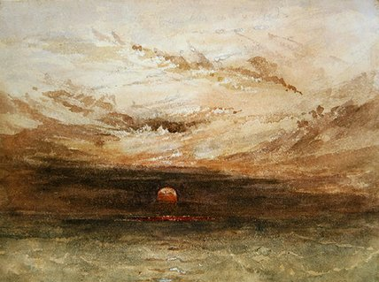 Baltic Scene Of A Sunset by John Wilson Carmichael (1800-1868, United Kingdom)