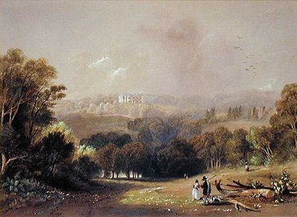 Roundhay Park, Leeds by John Wilson Carmichael (1800-1868, United Kingdom)