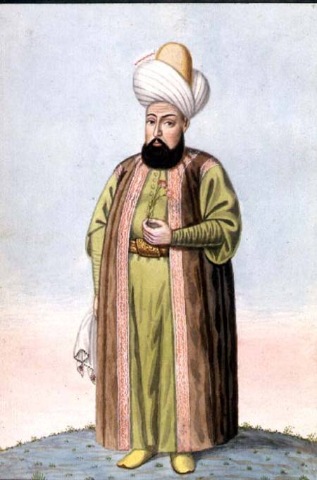 Othman I, Founder Of The Ottoman Empire by John Young (1950-2002, China)