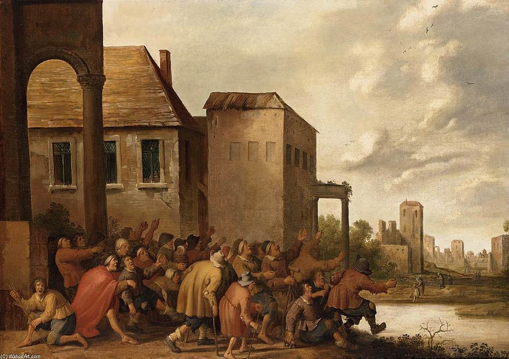 The Pool Of Bethesda by Joost Cornelisz Droochsloot (1586-1666, Netherlands)