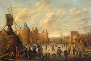Joost Cornelisz Droochsloot - Winter In A Dutch Town