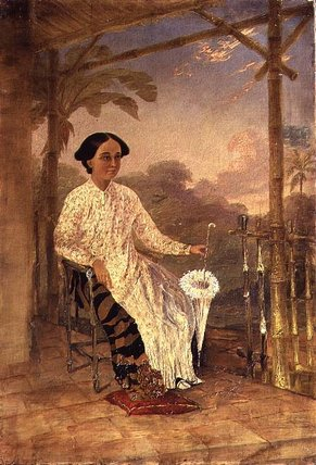 Wife Of Captain Drysdale by Thomas Baines (1820-1875, United Kingdom)