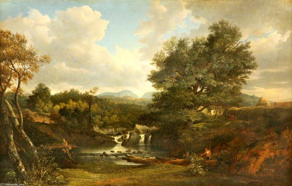 The Miller's Linn, Inveraray by Patrick Nasmyth (1787-1831, United Kingdom)
