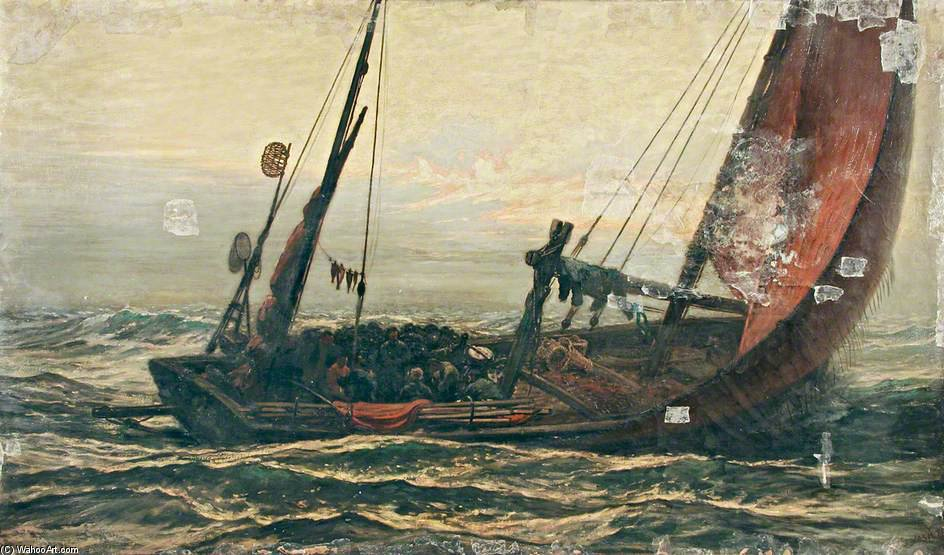Sunday Afternoon At Sea by Joseph Nash The Younger (1835-1922, United Kingdom)