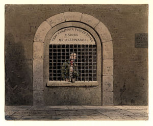 Thomas Hosmer Shepherd - A Debtor In Fleet Street Prison Ths