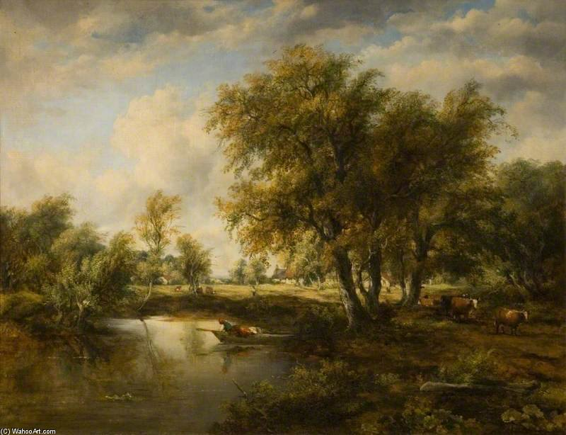 Landscape With A Stream by Frederick Waters Watts