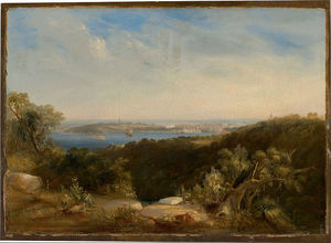 Conrad Martens - View Of Sydney Harbour Showing Sydney Cove