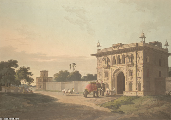 Gate Of The Loll-baug At Fyzabad by Thomas And William Daniell (1769-1837, United Kingdom)