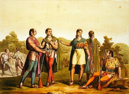 Indian Squaws by Gallo Gallina (1796-1874, Italy)