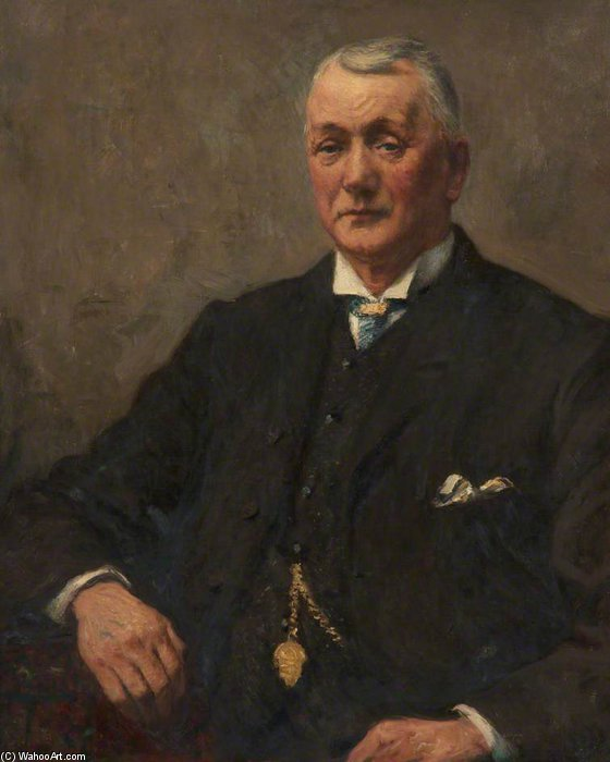 Robert Jackson, Organist Of St Peter's Church by Frederick William Jackson (1859-1918, United Kingdom)