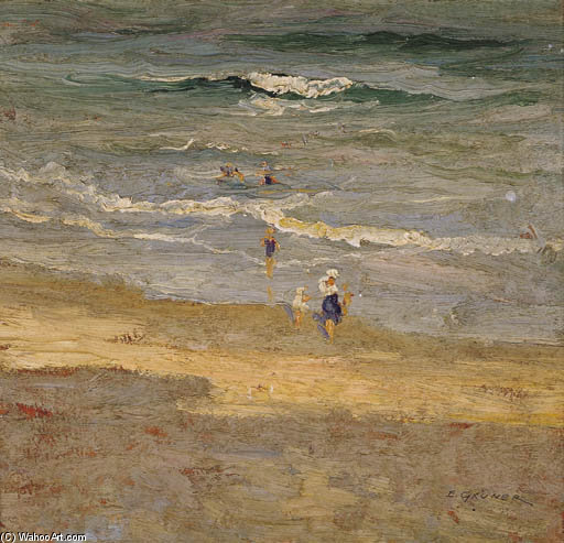 The Incoming Tide by Elioth Gruner (1882-1939, New Zealand)