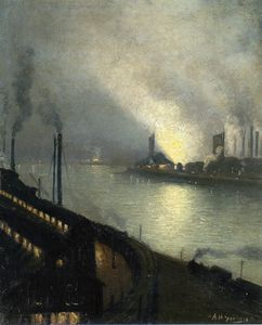 Aaron Harry Gorson - Factories At Night