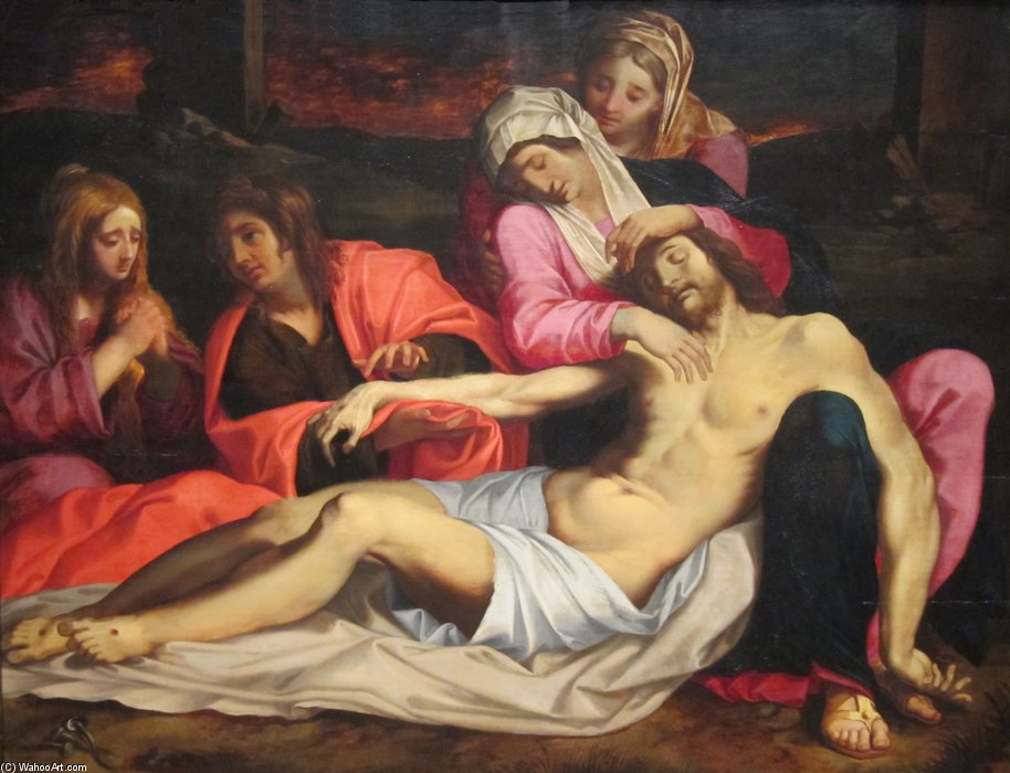 The Lamentation Of Christ, by Abraham Janssens (1570-1632, Belgium) | Painting Copy | ArtsDot.com