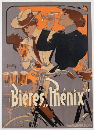 Poster Advertising Phenix Beer by Adolf Hohenstein (1854-1928, Russia) | Painting Copy | ArtsDot.com
