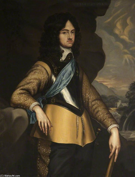 Charles Ii , As The Prince Of Wales by Adriaen Hanneman (1603-1671, Netherlands)