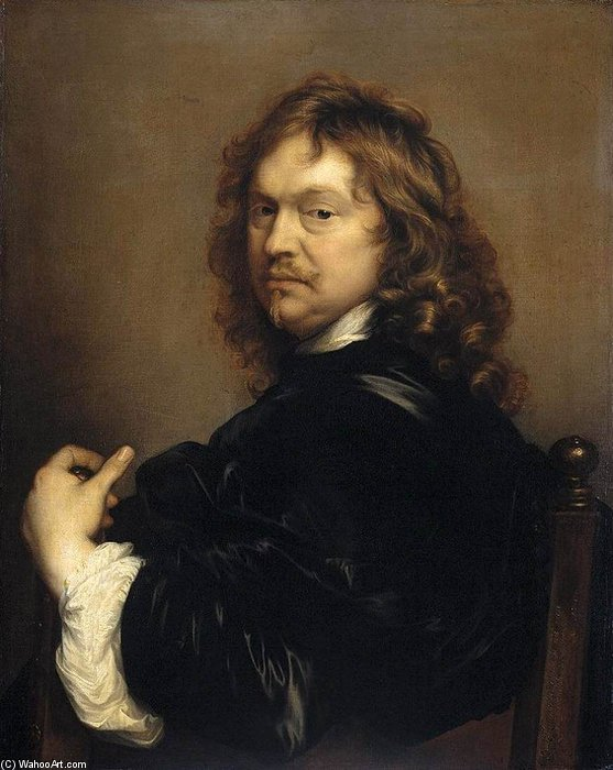 Self-portrait by Adriaen Hanneman (1603-1671, Netherlands)