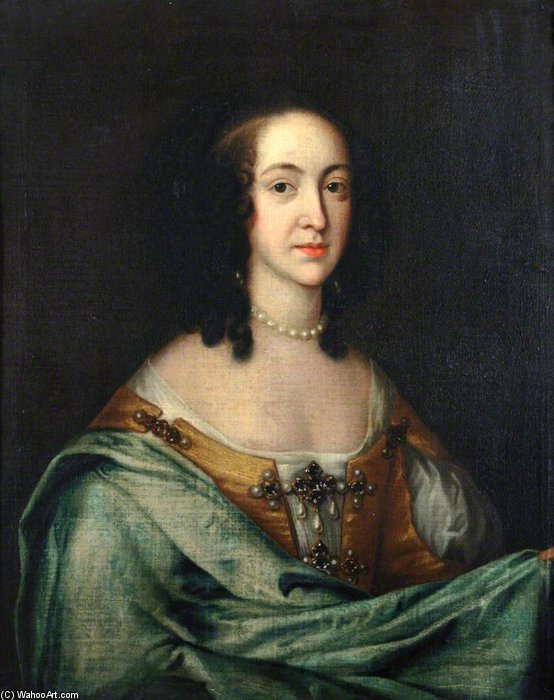 The Wife Of The First Duke Of Bolton by Adriaen Hanneman (1603-1671, Netherlands)