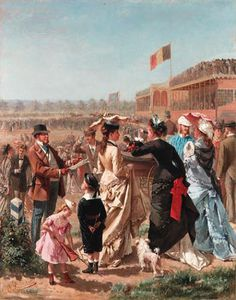 Albert Roosenboom - Elegant Company At The Races