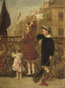 Albert Roosenboom - Waving To The Procession, Brus..