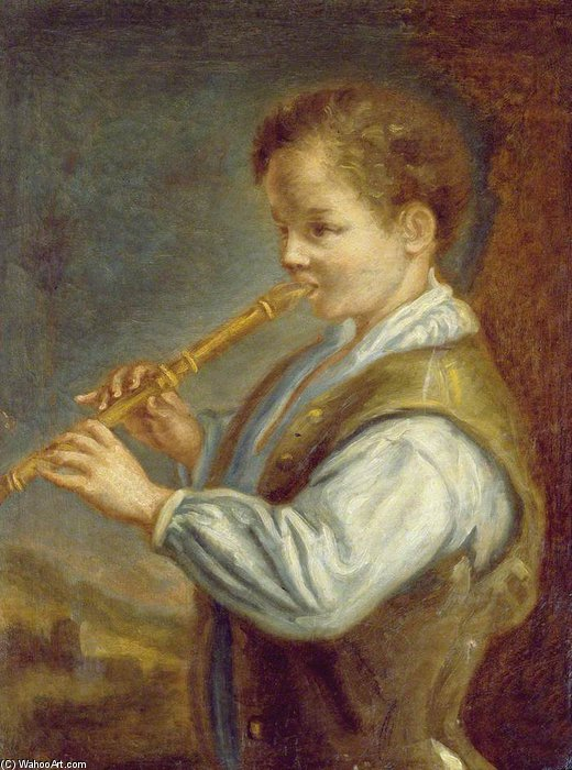 The Flautist by Alexis Grimou (1678-1733, [1] France)