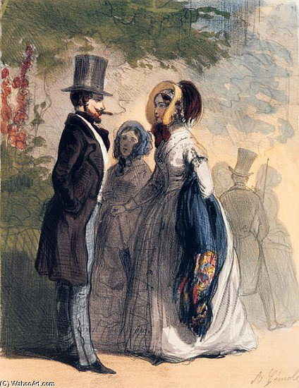 The Regular Visitor To Ranelagh Gardens by Alfred Andre Geniole (1813-1861) | ArtsDot.com