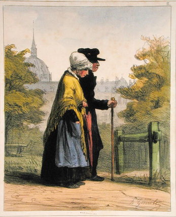 The Woman Of The Invalides by Alfred Andre Geniole (1813-1861) | Oil Painting | ArtsDot.com