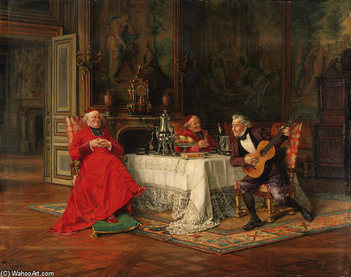 The Musical Interlude - by Alfred Charles Weber (1862-1922, France) | Museum Art Reproductions | ArtsDot.com