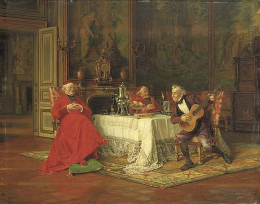 The Musical Interlude by Alfred Charles Weber (1862-1922, France) | Painting Copy | ArtsDot.com