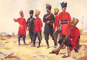 Alfred Crowdy Lovett - Depiction Of Various Rajputana Infantry Regiments