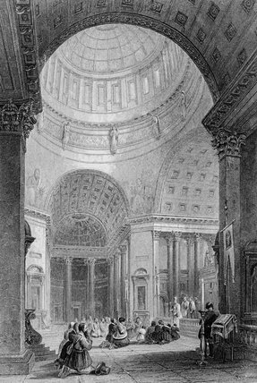 Interior Of The Kazan Church by Alfred Gomersal Vickers (1810-1837, United Kingdom) | Art Reproductions Alfred Gomersal Vickers | ArtsDot.com
