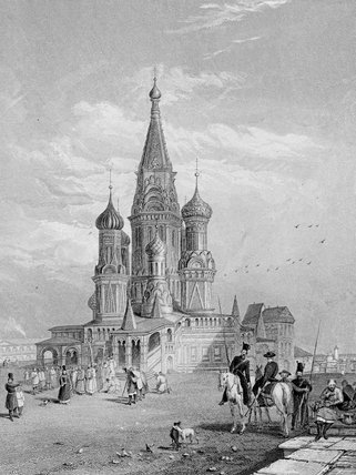 St. Basil`s Cathedral by Alfred Gomersal Vickers (1810-1837, United Kingdom) | Art Reproductions Alfred Gomersal Vickers | ArtsDot.com