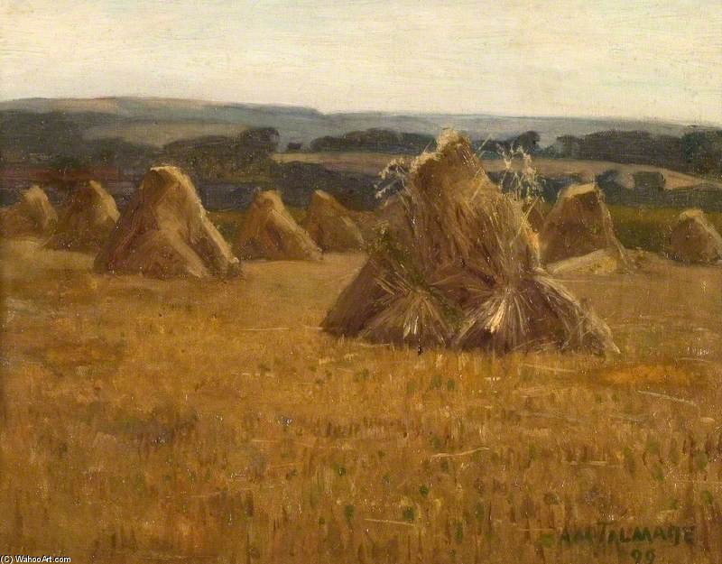 Corn Stacks by Algernon Talmage (1871-1939, United Kingdom) | Painting Copy | ArtsDot.com
