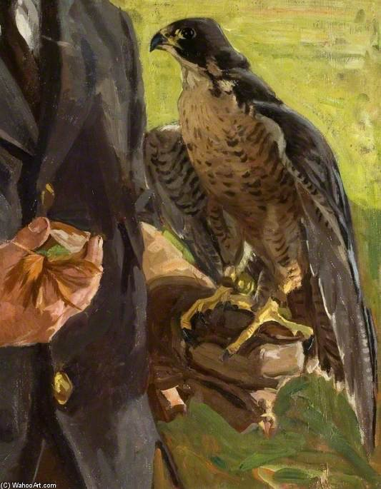 Falcon by Algernon Talmage (1871-1939, United Kingdom)