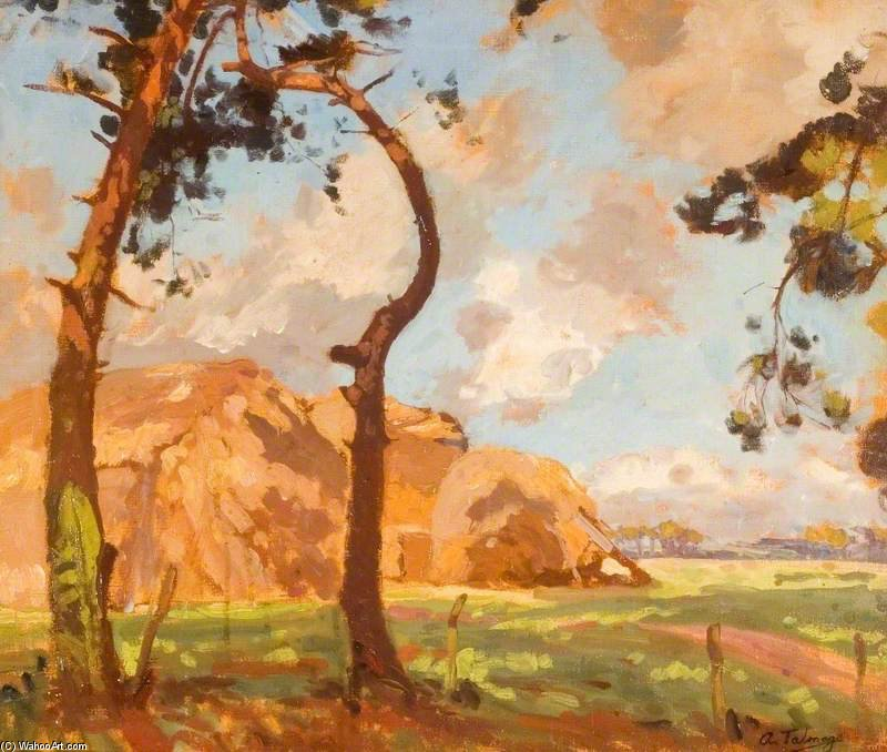 Hampshire Countryside by Algernon Talmage (1871-1939, United Kingdom)