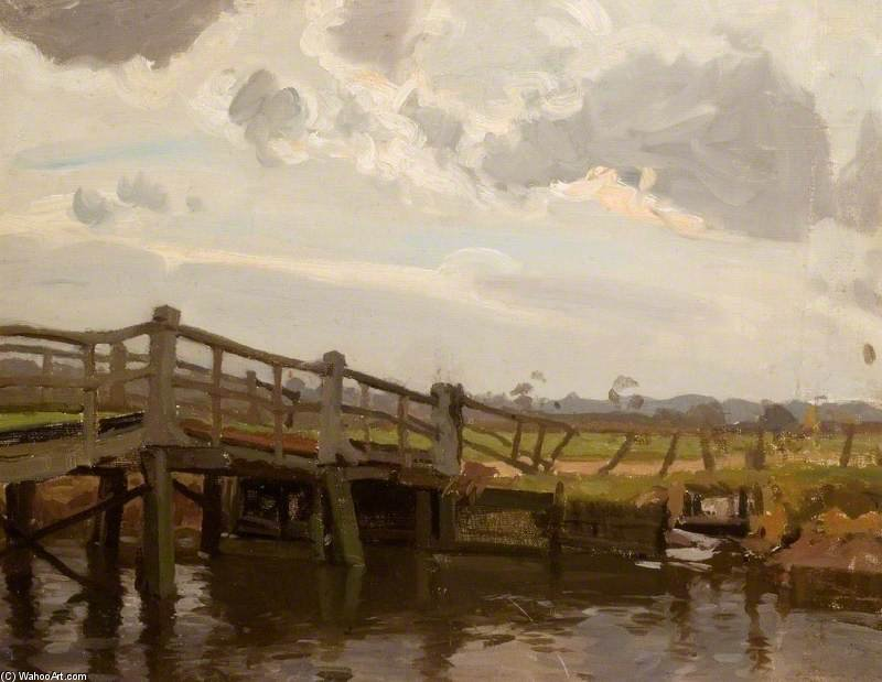 Ringwood Bridge by Algernon Talmage (1871-1939, United Kingdom)