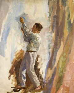 Algernon Talmage - Sketch Of A Figure For -the Founding Of Australia-